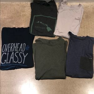 Lot of 5 tees, size large